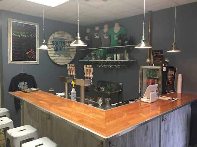 The taproom at Southern Craft located in the Barringer Foreman Technology Park on Airline Hwy.