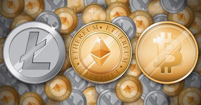 Litecoin, Ethereum, Bitcoin