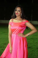 Actress Pujita Ponnada in beautiful red dress at Darshakudu music launch ~ Celebrities Galleries 047.JPG