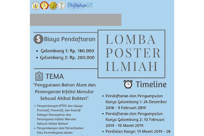 Lomba Poster Ilmiah Phytoplasm XI 2019 Mahasiswa