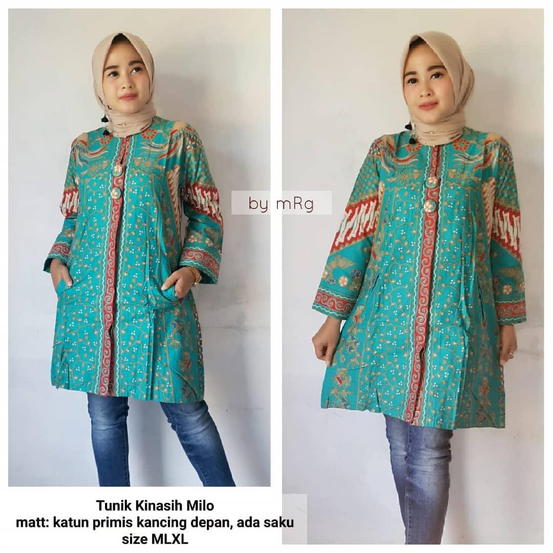 48 Model Baju Batik Atasan Wanita Terbaru 2019 Model