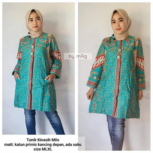 Model Atasan Baju Batik Wanita: 48+ Model Baju Batik Atasan Wanita Terbaru 2019