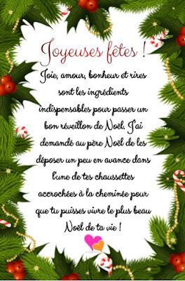Texte original à votre famille, vos amis pour leur dire Joyeux Noël