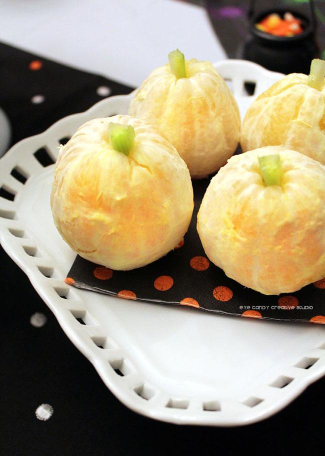 healthy halloween treats, healthy halloween party food, oranges