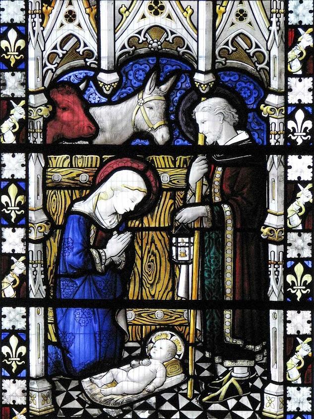 Vitral na igreja de São Domingos em Londres