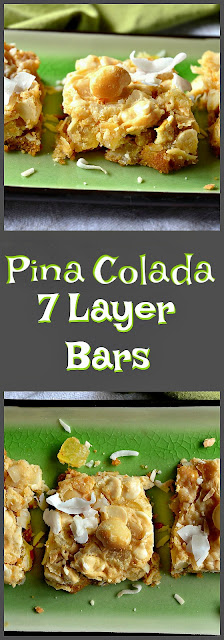 pineapple, 7 Layer Bars, Hello Dolly bars, coconut, macadamias