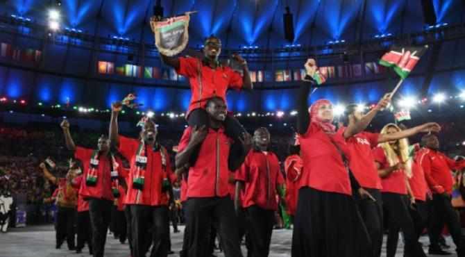 Kenya's athletes, seen here at the opening ceremony in Rio, took home six gold medals from the 2016 Games. By Leon Neal (AFP/File) Nairobi (AFP) - Kenya's runners impressed at the Rio Olympics, but to the country's shame its officials were equally distinguished when it came to corruption.