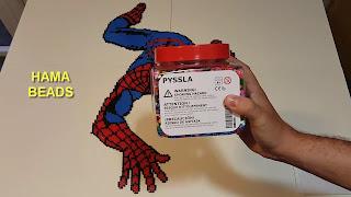 SPIDERMAN hecho con Hama Beads 1