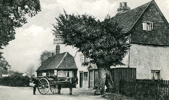 Photograph of The Old Maypole, Water End 1900s. Image by G Knott from Peter Miller's collection