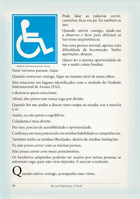 Cartilha de orientação pessoas com deficiência