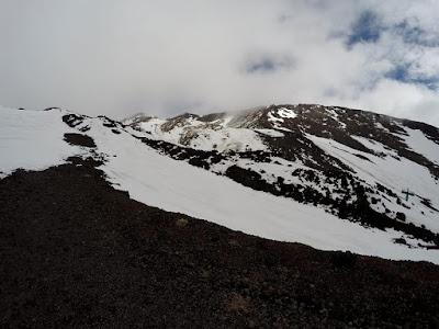 Etna w lutym zima