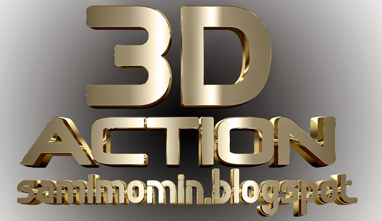 3D GOLD AWESOME  ACTION FOR PHOTOSHOP