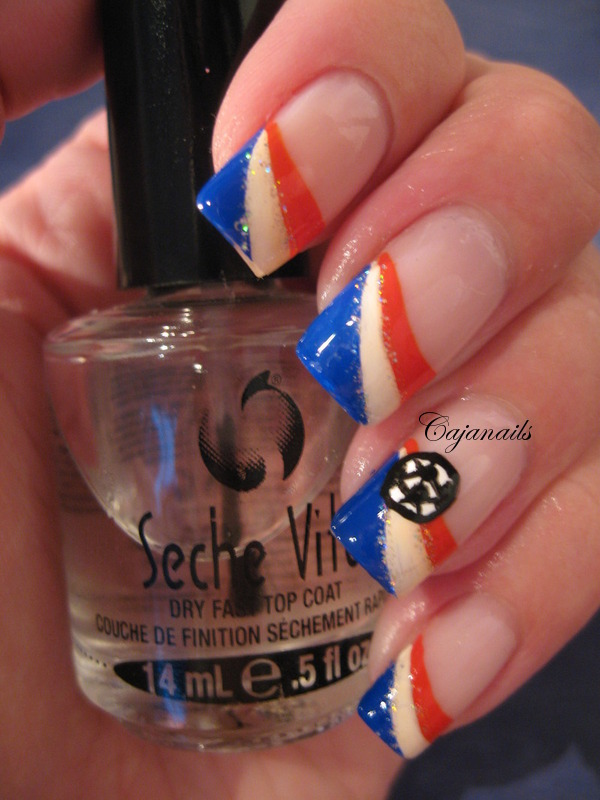 Cajanails Nailart: European championship nails!