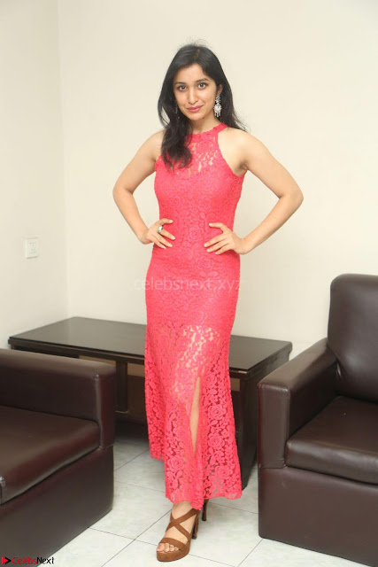 Sakshi Kakkar in Red Legsplit Sleeveless Gown at Dare movie Press meet ~  Exclusive 003.JPG