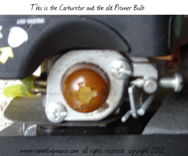 Rambling Moose: Two Cycle Engine Repair - Replacing A Primer