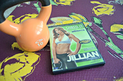 The DVD & kettle bell I use to help me with indoor cardio & strength training