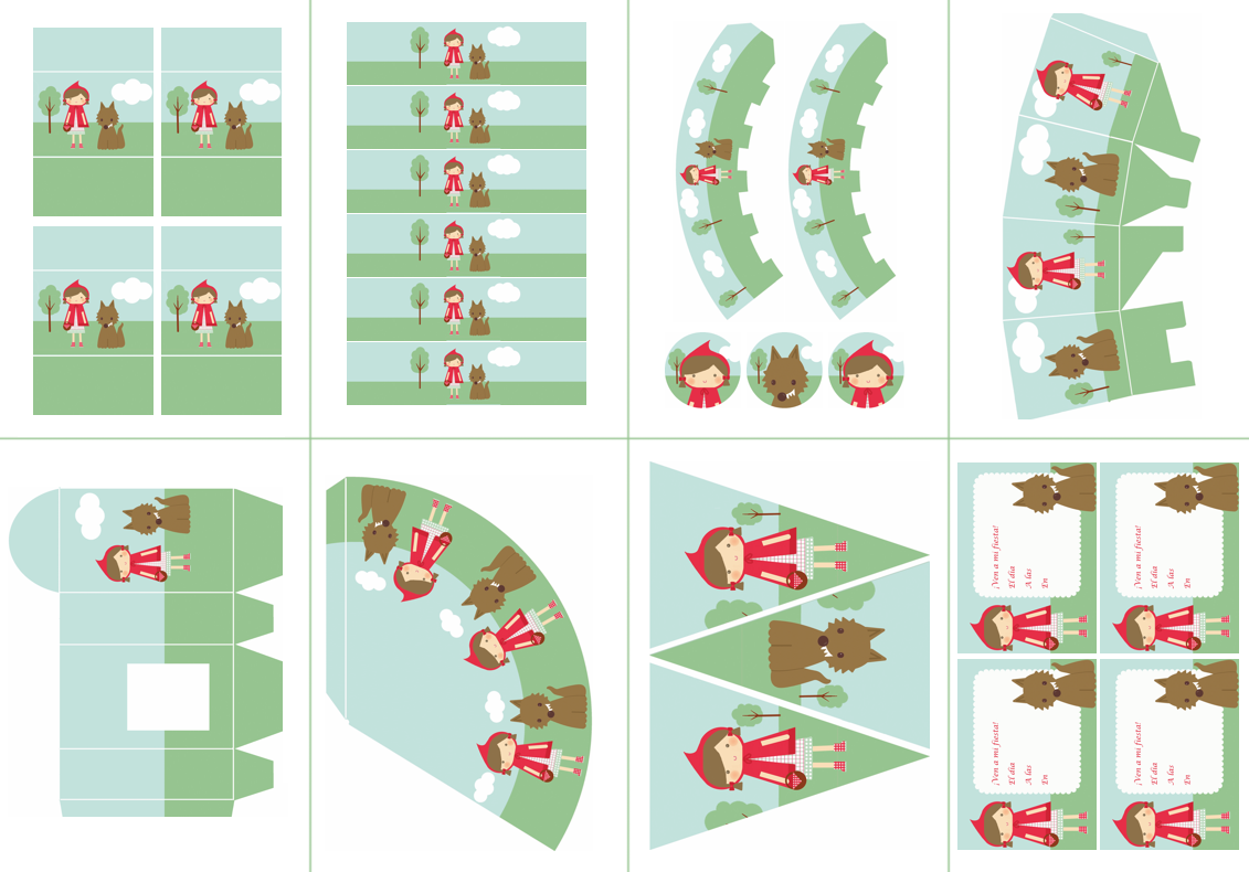 Kit de fiesta de Caperucita Roja