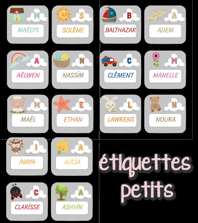 Extraordinaire La maternelle de Laurène: étiquettes prénoms TE79