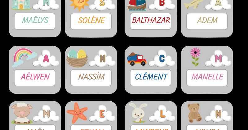 Meilleur de tous La maternelle de Laurène: étiquettes prénoms IL43