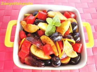 Macedonia di fichi e anguria
