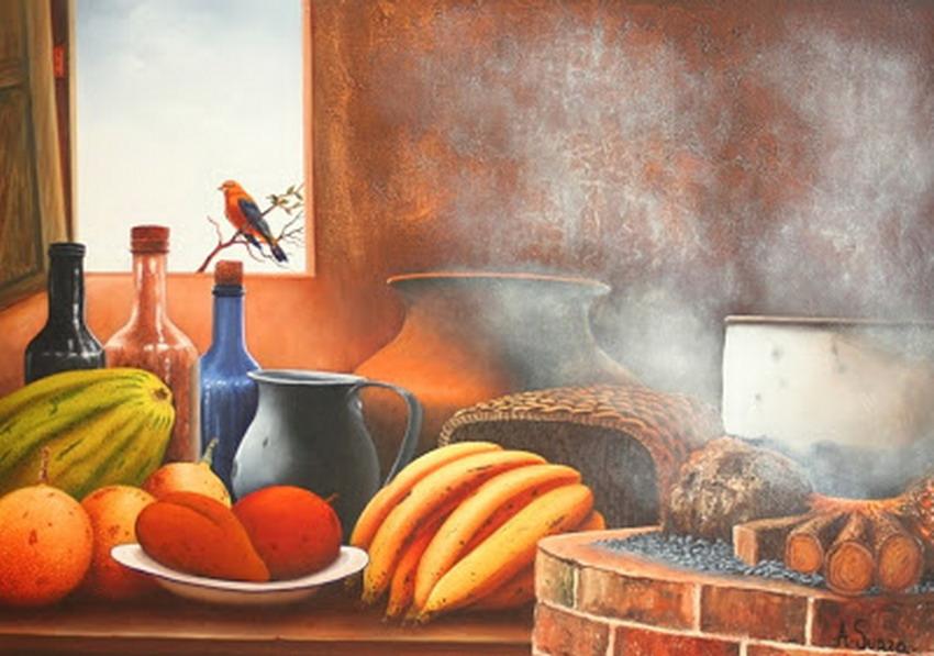Cuadros modernos pinturas y dibujos estufas y hornillas - Pinturas para cocina ...