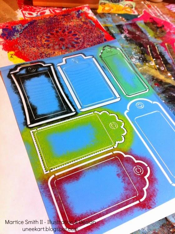 Tags & Labels stencil (DecoArt)