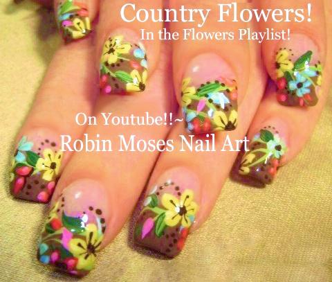 Nail Art By Robin Moses Diy Easy Spring 2016 Wild Flower Nail Art
