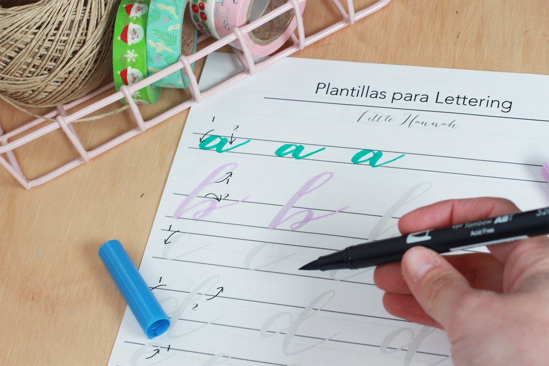 Little hannah descargable plantilla para practicar lettering - Plantillas pared ...