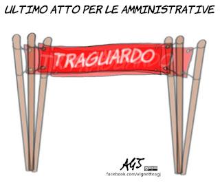 ballottaggi, amministrative, campagna elettorale, sindaci, candidati, satira, vignetta