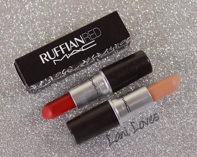 MAC MONDAY | MAC Ruffian - Ruffian Naked and Ruffian Red Lipstick Swatches & Review