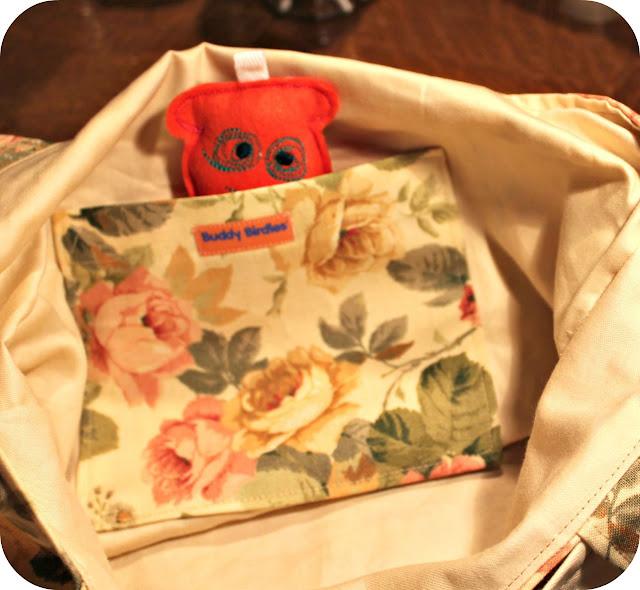 monster, vintage fabric, buddy birdies,how to make a bag, tutoriel comment faire un sac, poche , pocket,