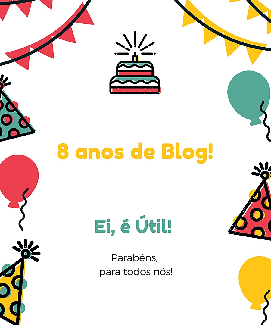 8 anos de Blog 🎈!