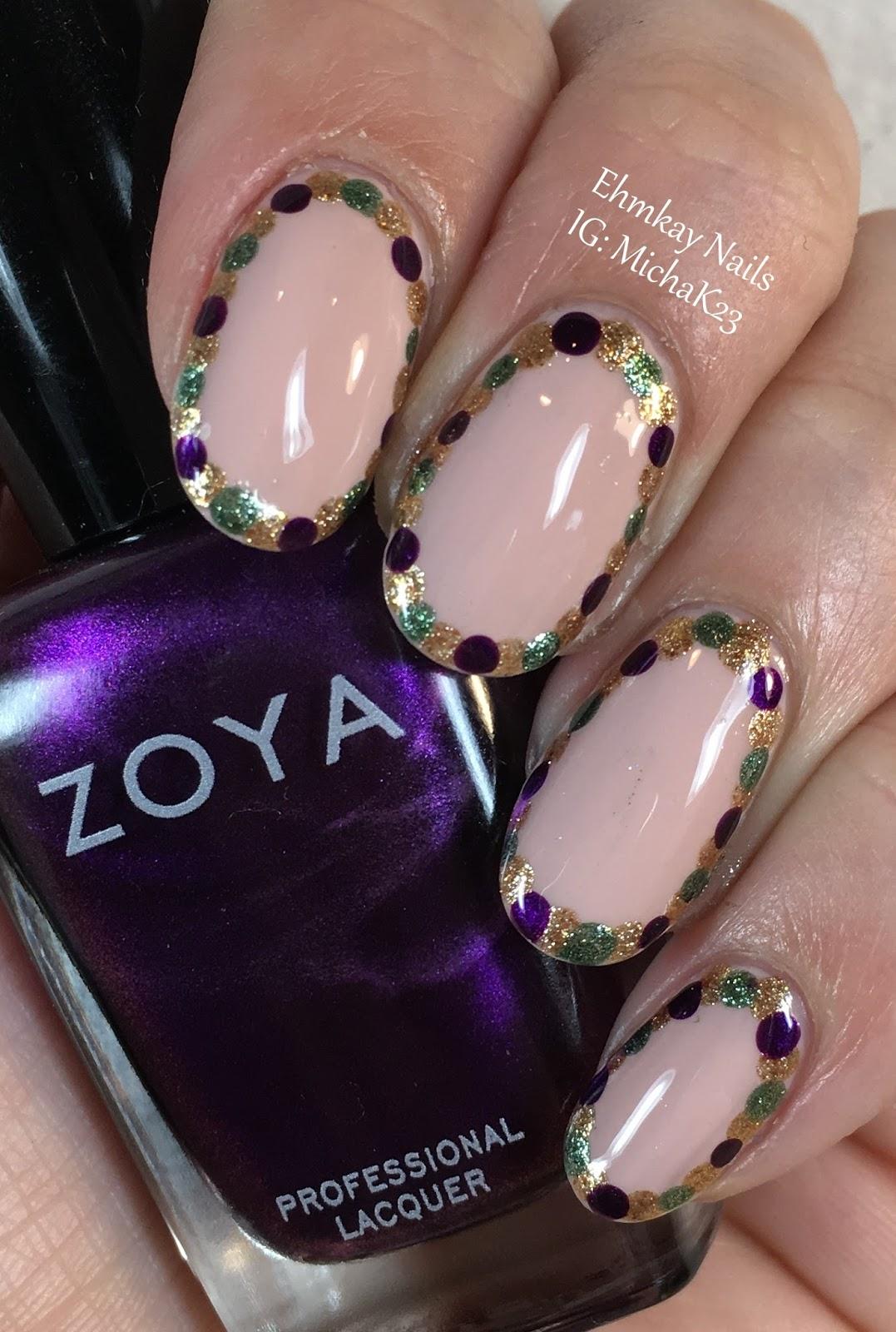 Ehmkay nails mardi gras nail art show us your beads mardi gras nail art show us your beads prinsesfo Images