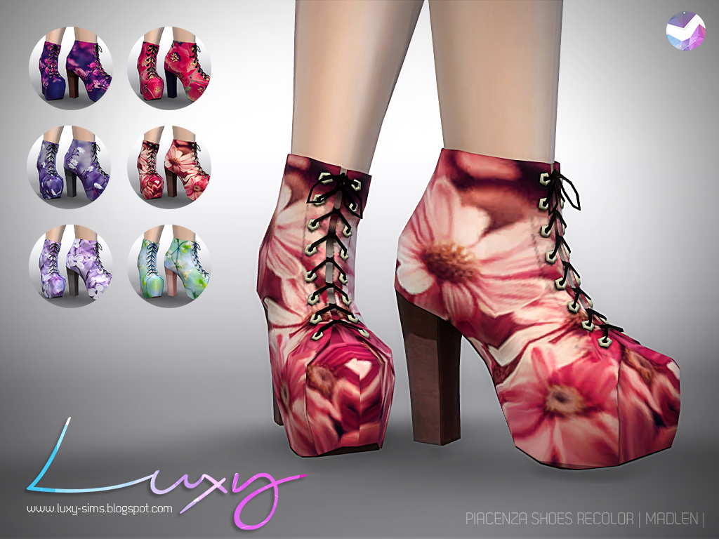 Sims  Shoes Fabric High Heel Boots Mod