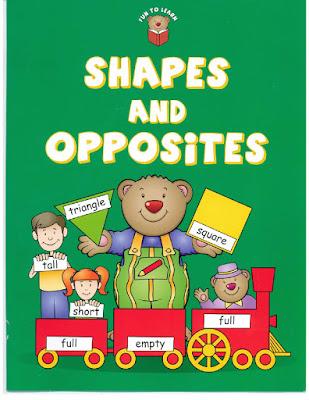 كتاب  fun to learn shapes and opposites  لتعلم الاشكال والاضداد للغة الانجليزية