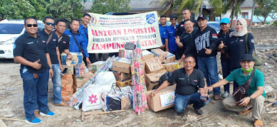 AWPI Lampung Serahkan Donasi Bagi KorbanTsunami