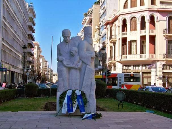 «Θεσσαλονίκη-Ανοιχτή Πόλη»: Χάλια το άγαλμα των Ποντίων στην Αγίας Σοφίας