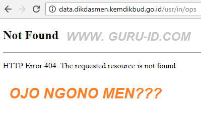 gambar server website dapodikdasmen down