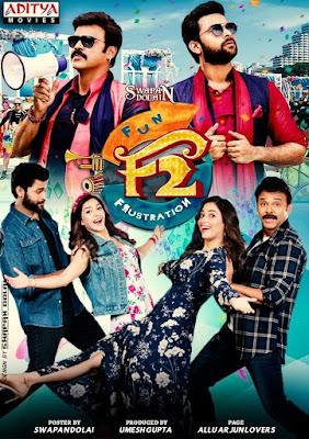 F2 Fun and Frustration 2019 Hindi Dubbed 720p WEBRip 1Gb x264