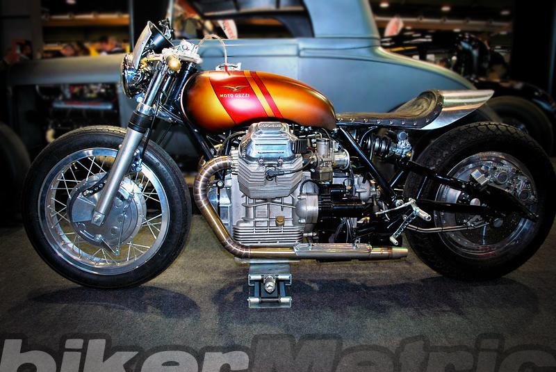 slick moto guzzi cafe | mandello raw power - bikermetric