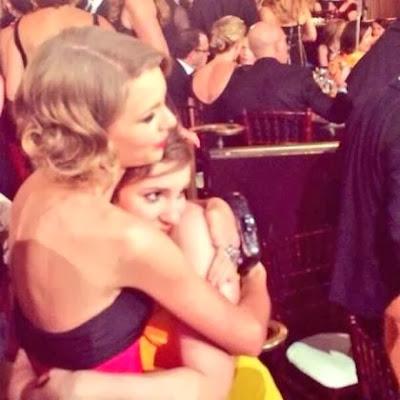 Taylor Swift Lena Dunham Golden Globes 2014