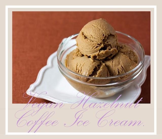 Coffee flavour of  Vegan Hazelnut Coffee Ice Cream recipe