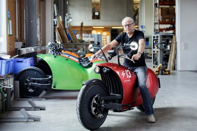 Electric Bike to the future! The bizarre 'Tesla of motorbikes' that could also power your home.