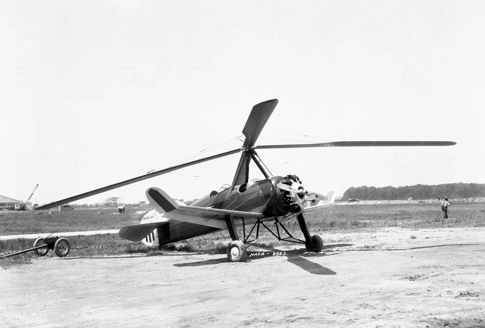 Autogyros are the true predecessors of flying cars and Harold F. Pitcairn's PCA-2 was sold on the mass market. It was the first rotary-wing aircraft to achieve type certification in the United States, and in one promotional stunt landed on the White House lawn during Herbert Hover's presidency. 1923.
