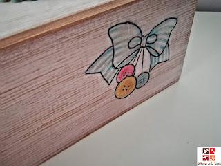 caja de vino con decoupage