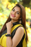 Cute Actress Ashwini in Yellow Saree Exclusive  009.JPG