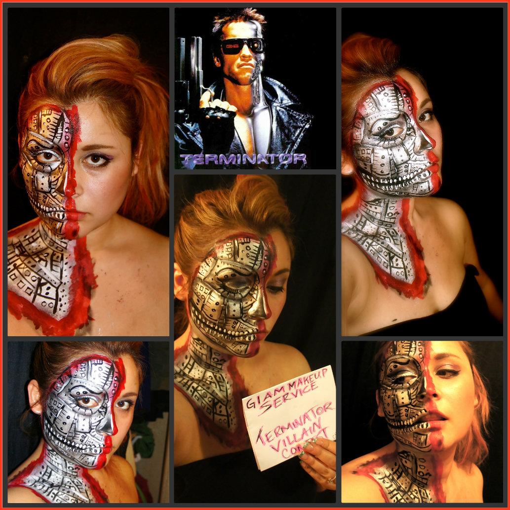 Makeup By Chayo: Terminator Villain Makeup Look