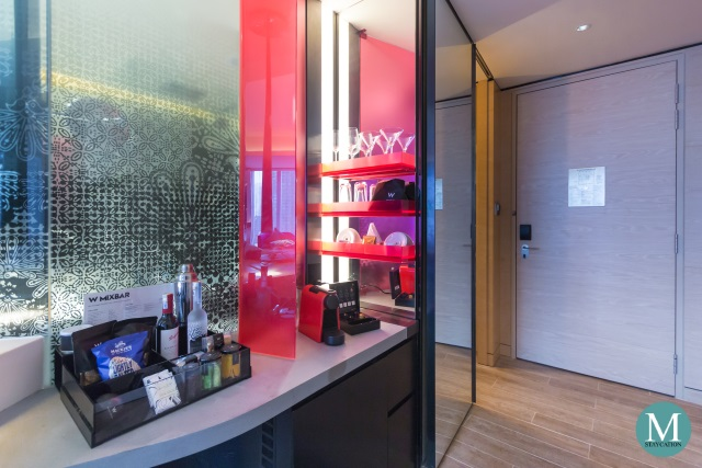 Minibar of Wonderful Room at W Hotel Kuala Lumpur