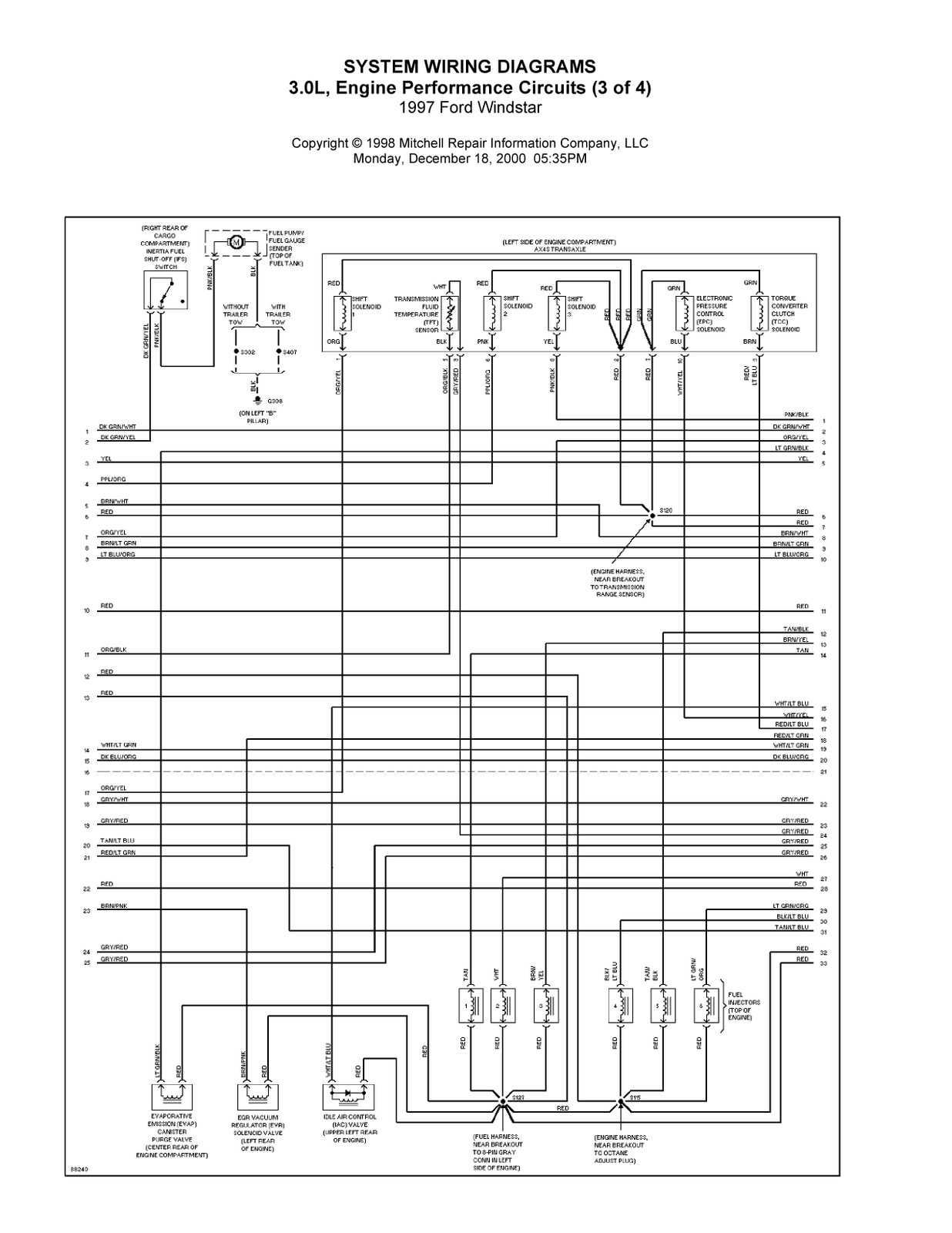 1997 ford windstar complete system wiring diagrams wiring diagrams center [ 1236 x 1600 Pixel ]