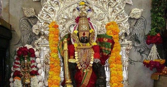 108 शक्ति पीठों में से एक  कोल्हापुर का श्री महालक्ष्मी मंदिर